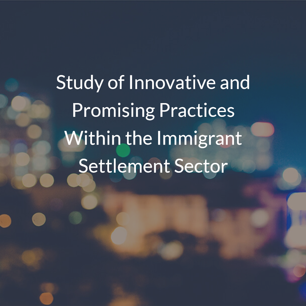 Study of Innovative and Promising Practices Within the Immigrant Settlement Sector